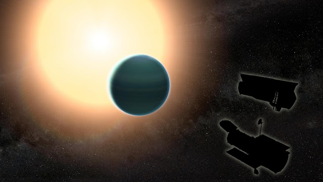 Primitive atmosphere discovered around 'Warm Neptune'