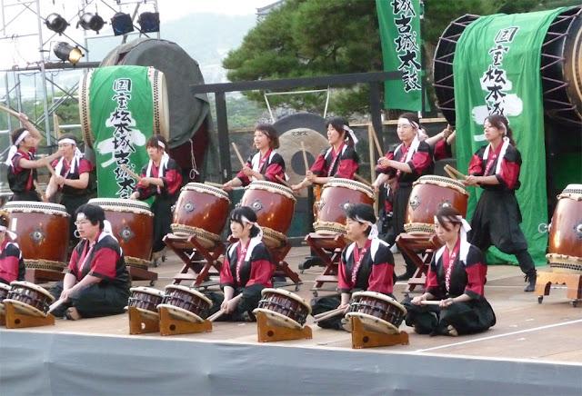 Taiko Matsuri (Japanese Drum Show) at Matsumoto Catsle, Nagano