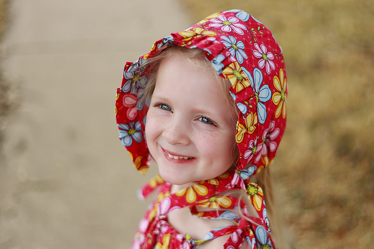 Reversible Ruffled Bonnet Sewing Pattern Sun Bonnet