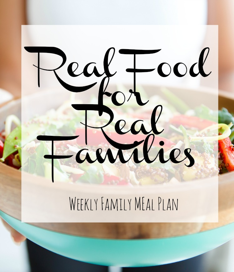 Weekly Family Meal Plan 2017 Week 32