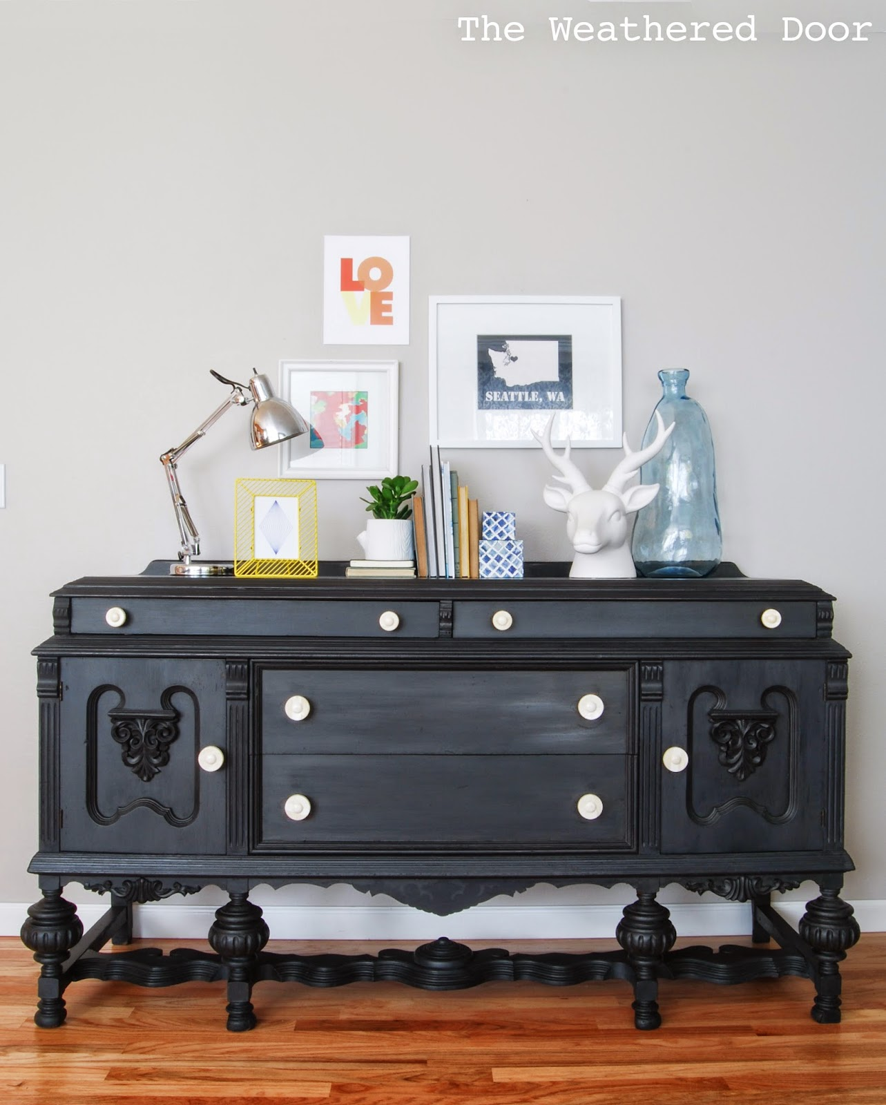 Furniture Reveal Black Milk Paint Buffet