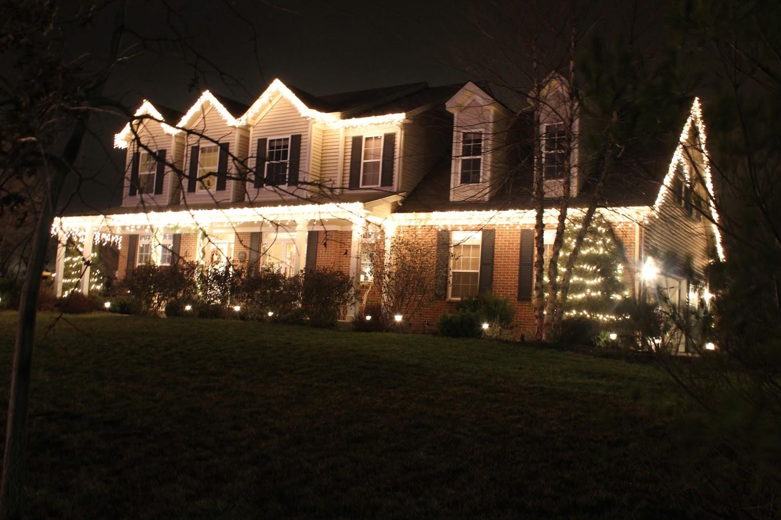 how to put christmas lights up high