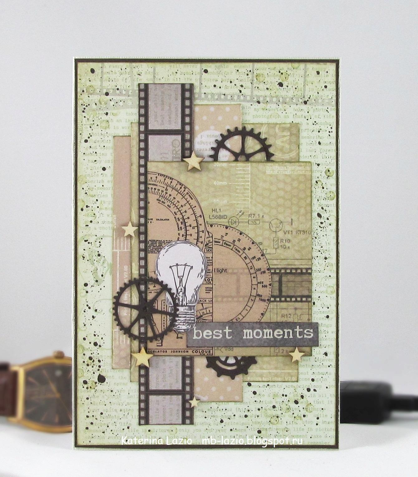 скрапбукинг скетчи для мужской открытки