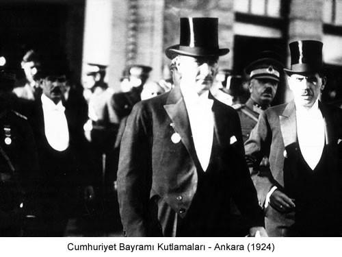 Atatürk Cumhuriyet Bayramı Kutlamaları 1924 Fotoğraf