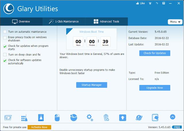 تحميل وتثبيت برنامج glary utilities لتسريع الويندوز وإصلاح مشاكله