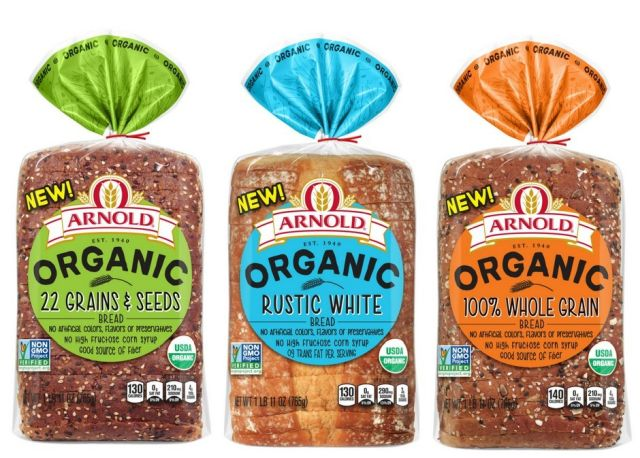arnold brownberry and oroweat organics bread line rolls out