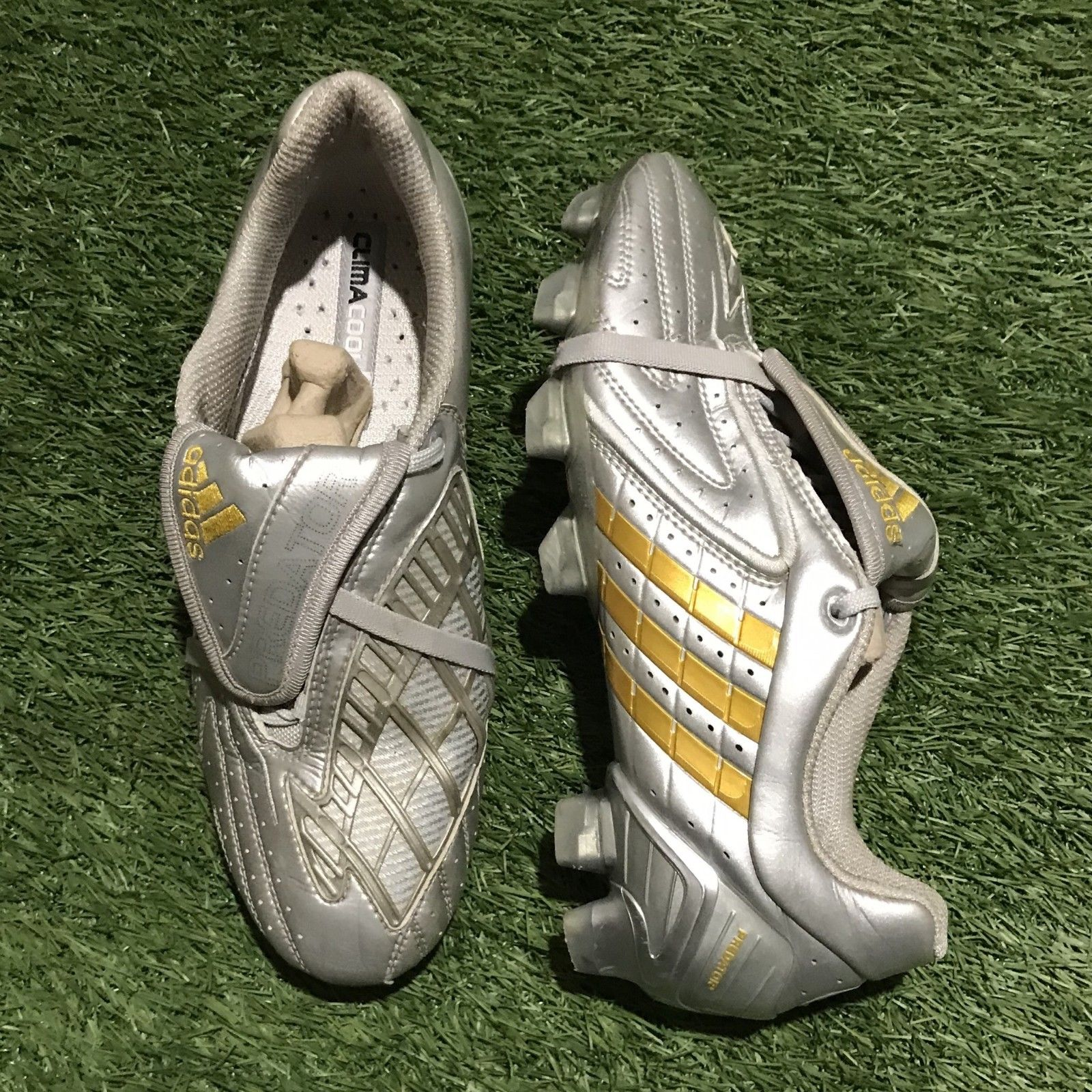 ab4f880fc0cf Adidas Predator Powerswerve - Silver   Gold (David Beckham Exclusive)