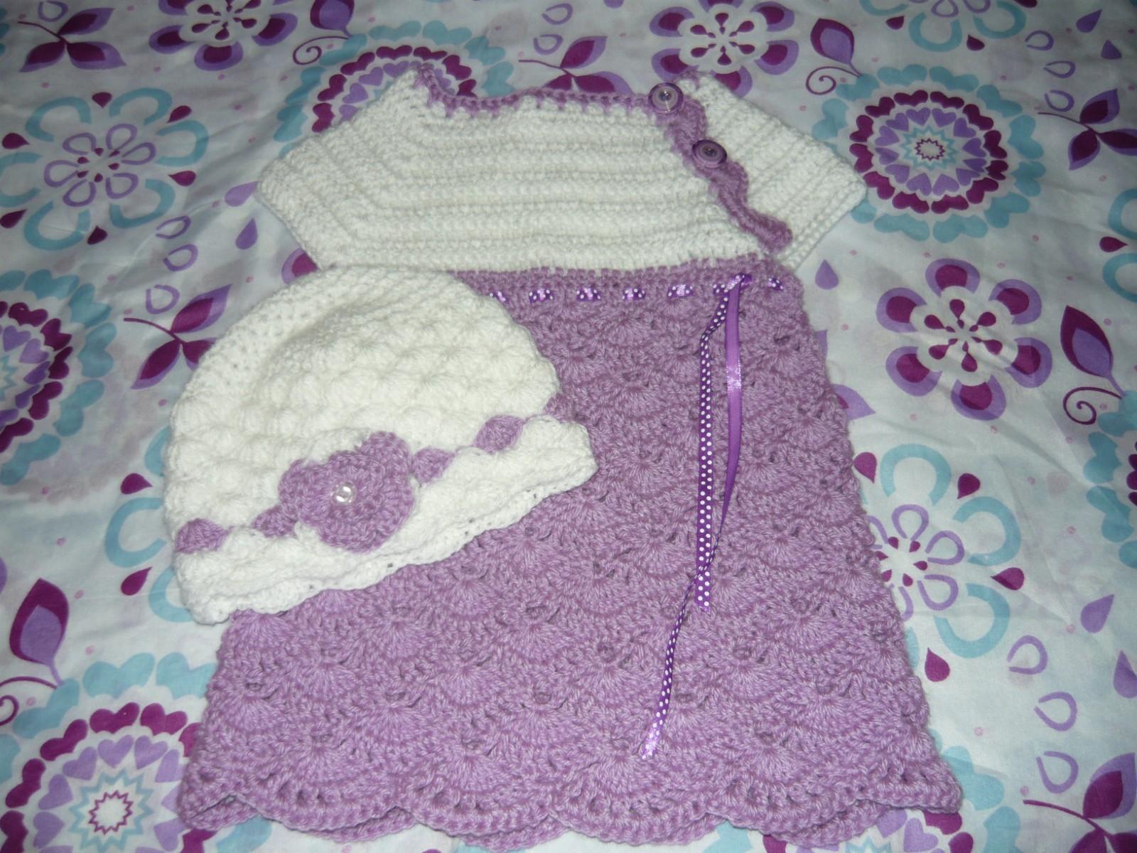 Vestito lana ai ferri bambina