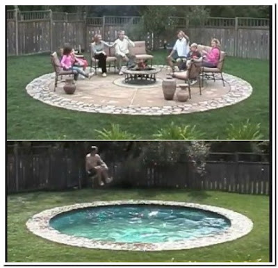 Old Swimming Pool That Turns Into A Patio