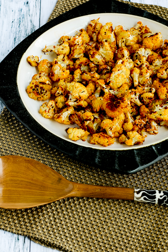 Roasted Spicy Cauliflower found on KalynsKitchen.com