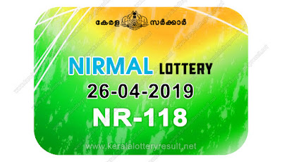 KeralaLotteryResult.net, kerala lottery kl result, yesterday lottery results, lotteries results, keralalotteries, kerala lottery, keralalotteryresult, kerala lottery result, kerala lottery result live, kerala lottery today, kerala lottery result today, kerala lottery results today, today kerala lottery result, Nirmal lottery results, kerala lottery result today Nirmal, Nirmal lottery result, kerala lottery result Nirmal today, kerala lottery Nirmal today result, Nirmal kerala lottery result, live Nirmal lottery NR-118, kerala lottery result 26.04.2019 Nirmal NR 118 26 april 2019 result, 26 04 2019, kerala lottery result 26-04-2019, Nirmal lottery NR 118 results 26-04-2019, 26/04/2019 kerala lottery today result Nirmal, 26/4/2019 Nirmal lottery NR-118, Nirmal 26.04.2019, 26.04.2019 lottery results, kerala lottery result April 26 2019, kerala lottery results 26th April 2019, 26.04.2019 week NR-118 lottery result, 26.4.2019 Nirmal NR-118 Lottery Result, 26-04-2019 kerala lottery results, 26-04-2019 kerala state lottery result, 26-04-2019 NR-118, Kerala Nirmal Lottery Result 26/4/2019