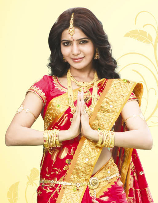 Samantha - saree photoshoot for Saravana Stores