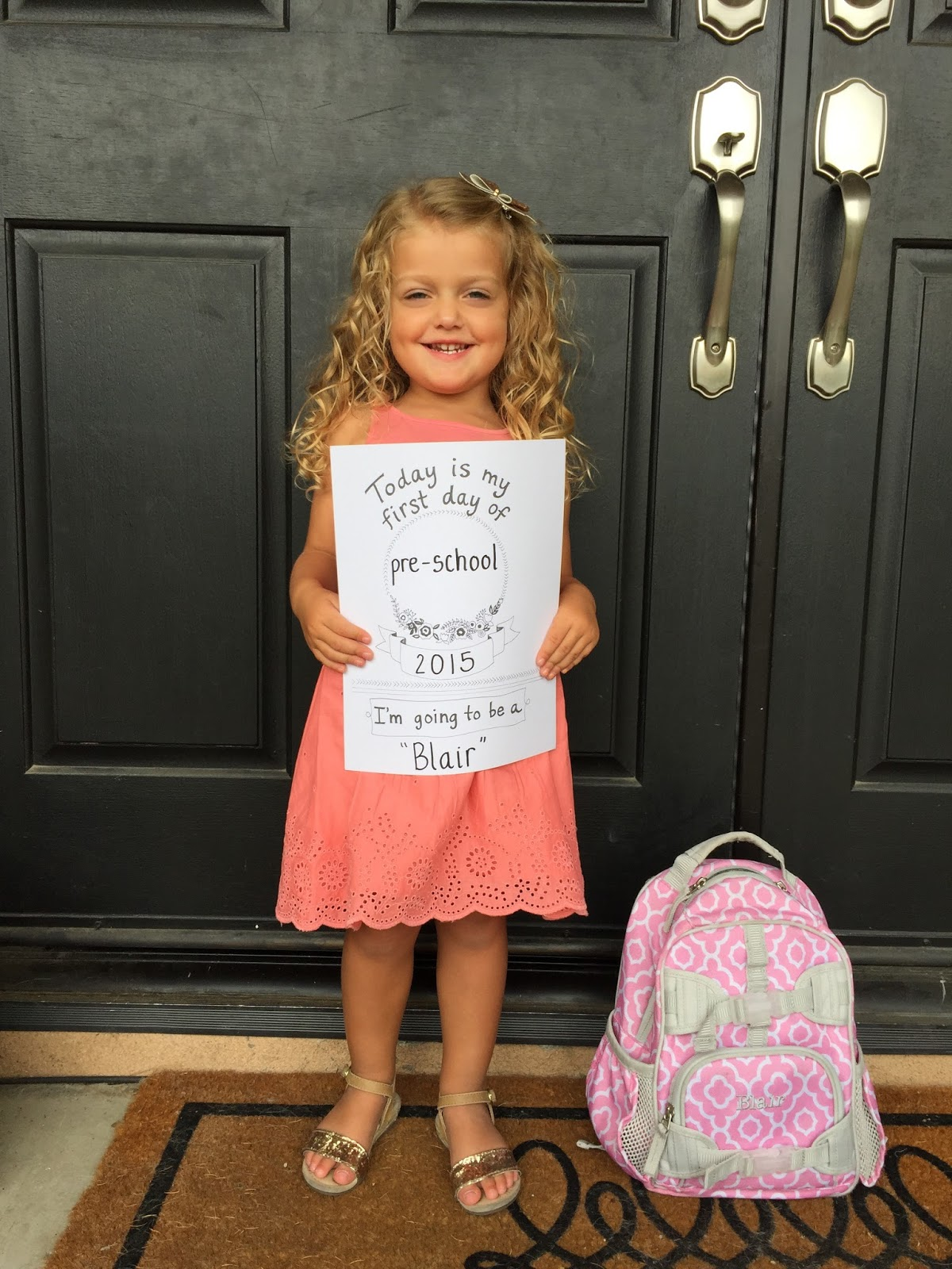 Nat Your Average Girl Blair S First Day Of Preschool
