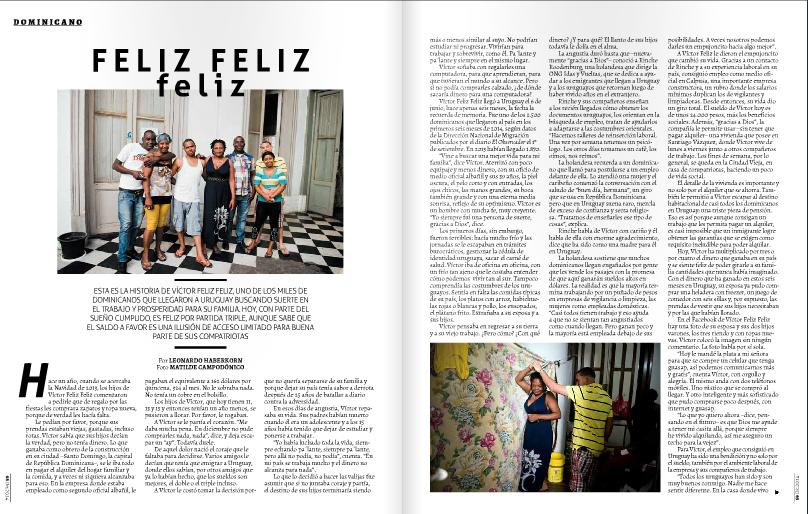 Dominicanos en Uruguay. revista Bla. Haberkorn