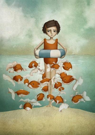 por Maja Lindberg | ilustraciones imaginativas, infantiles, sentimientos y emociones, imagenes bonitas, illustration art, cool stuff.