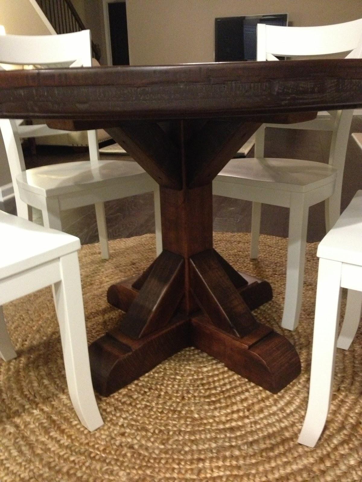 rustic round pedestal table round rustic kitchen table Rustic Round Pedestal Table