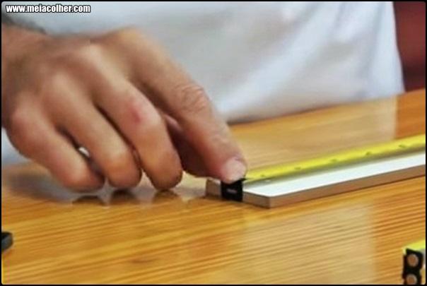 trena medindo madeira