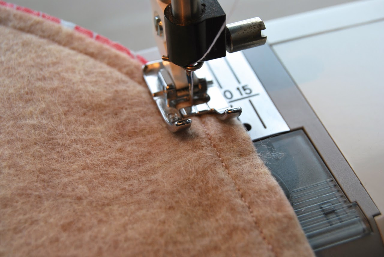 sewing exterior pieces together