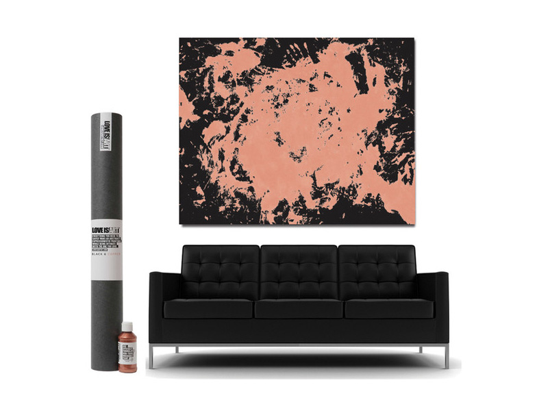 Black and Copper Love Art Kit
