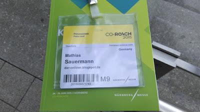 Co-Reach 2015: der Presseausweis.