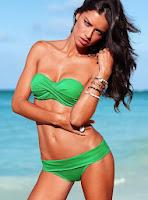 Adrianna Lima sexy irish green bikini