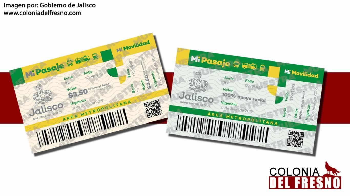 """imagenes de muestra de """"Mi pasaje"""" amarillos y verdes"""