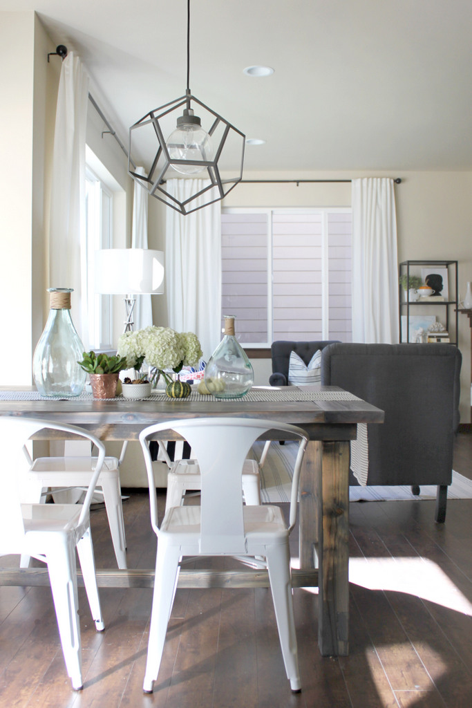 lovesome make it a farmhouse table. Black Bedroom Furniture Sets. Home Design Ideas