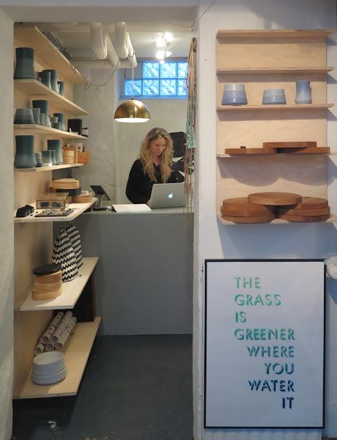 Sine Lindholm in Designkollektivet on Stefansgade, Copenhagen