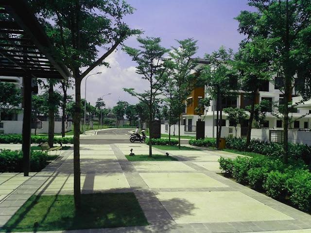 Một góc khuôn viên Gamuda Gardens.