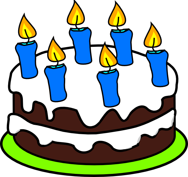 Candles With Birthday Clipart Cake