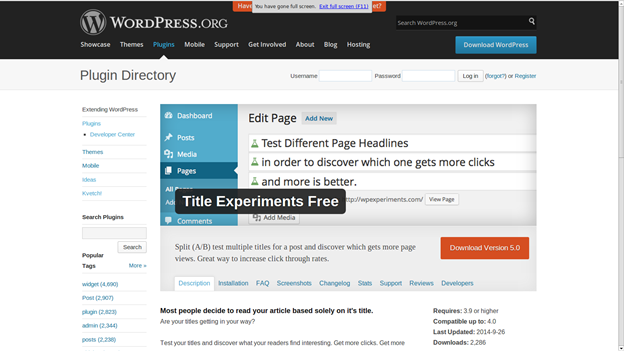 Split Test Your WordPress Titles