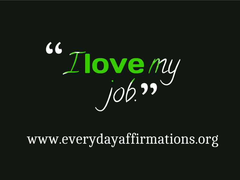 affirmations for success at work