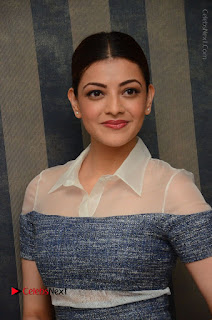 Actress Kajal Agarwal Latest Stills at Khaidi No 150 Movie Interview  0081.JPG