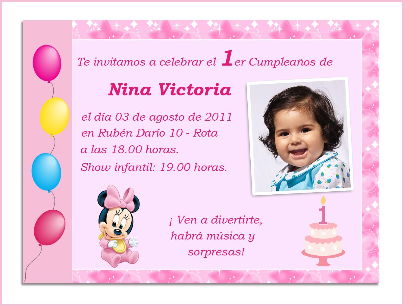 Baby Nina Fiestas: El Primer añito de Nina!!!! fiesta Minnie bebe.