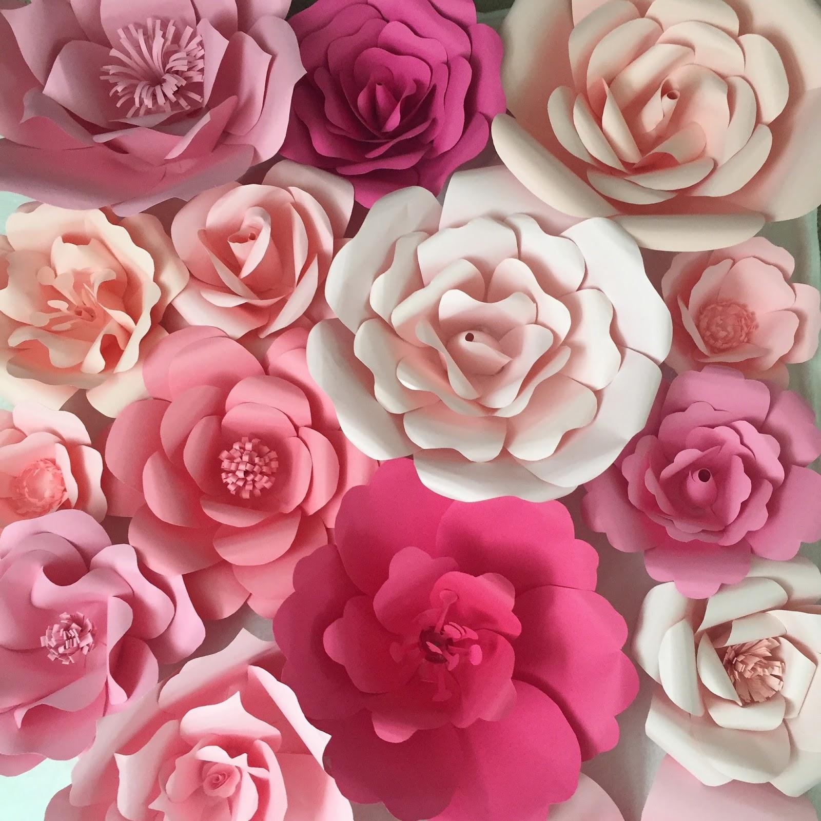 Como hacer flores gigantes paso a paso Souvenirs Ma Cristina