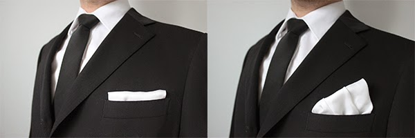 The Straight Fold This Is Considered Most Formal It Shows Only A Thin Folded Edge Best Suited For Black Tie Suits As Keeps