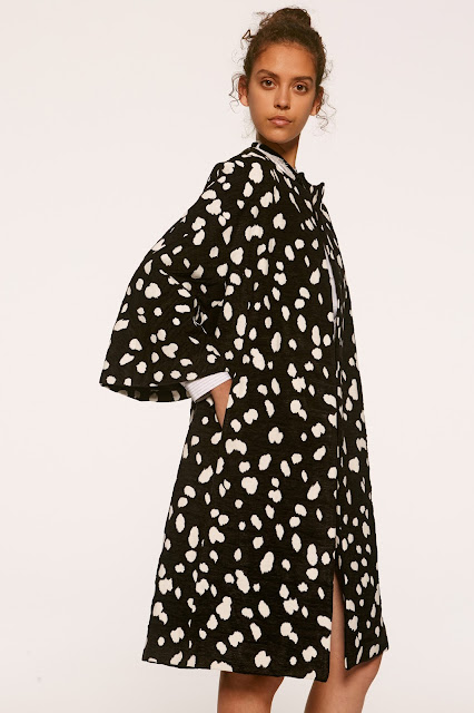 black and white coat from adam lippes spring collection
