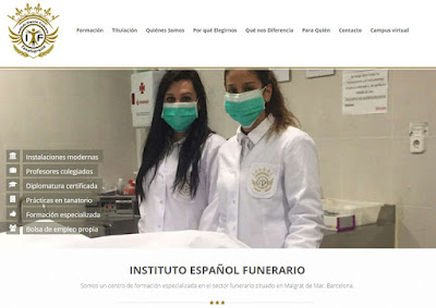 web instituto español funerario