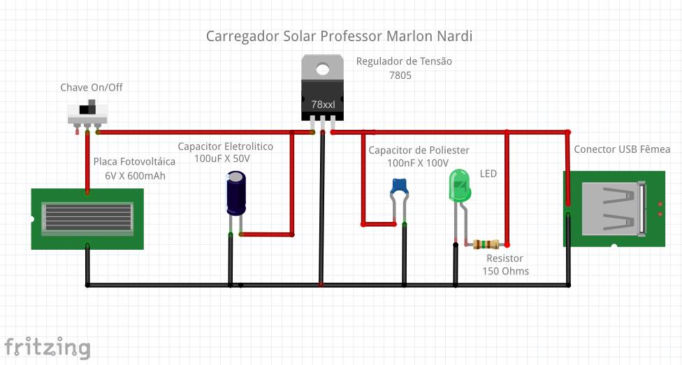 Marlon Nardi Walendorff Como Fazer Um Carregador Solar
