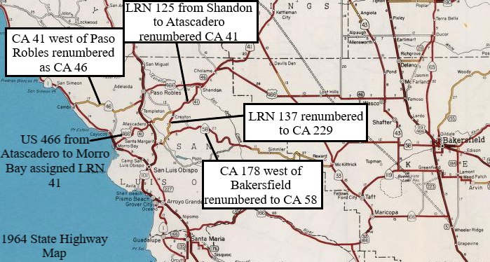 Highway 41 California Map.Legacy Of Us Route 466 Part 3 Morro Bay To Shandon California
