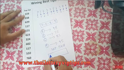 Thailand lotto VIP 3up pair formula numbers 01 October 2018