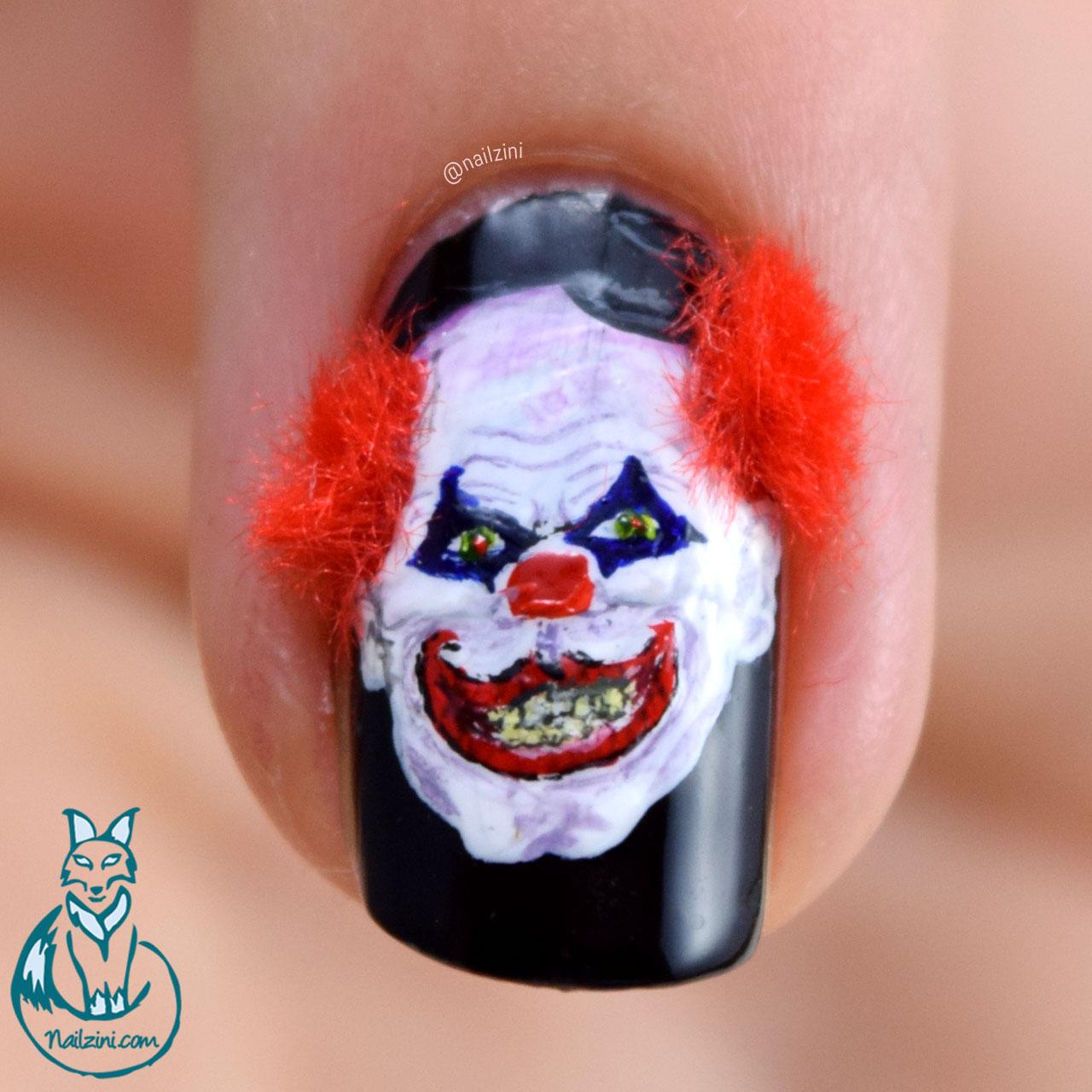 Creepy Clown Nail Art | Nailzini: A Nail Art Blog