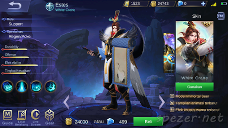 Estes - White Crane Skin ML Season 8