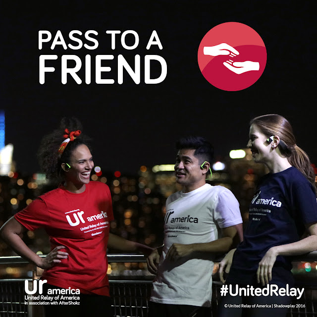 Pass to a Friend | United Relay of America In association with AfterShokz | #UnitedRelay