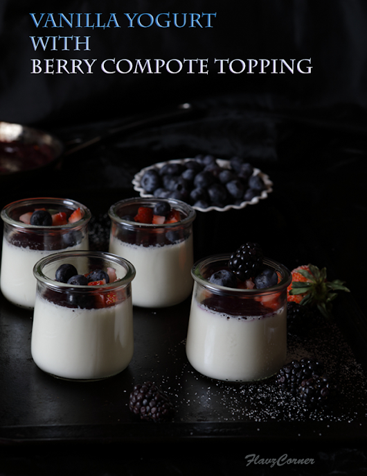 Vanilla Yogurt With Berry Compote Topping