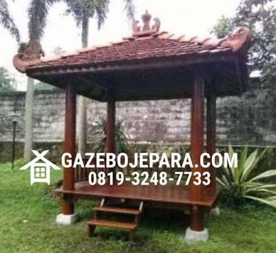 Gazebo Glugu Atap Genteng
