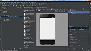 Halaman utama android studio