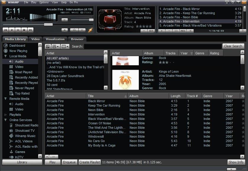 Winamp Mp3 Player Free Download Windows 7