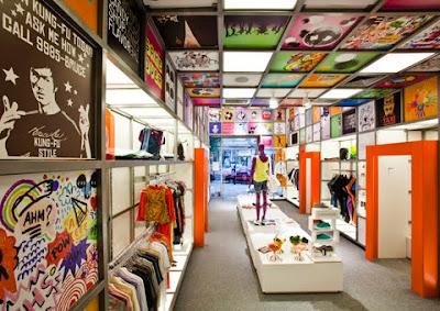 Decoración de tienda de ropa