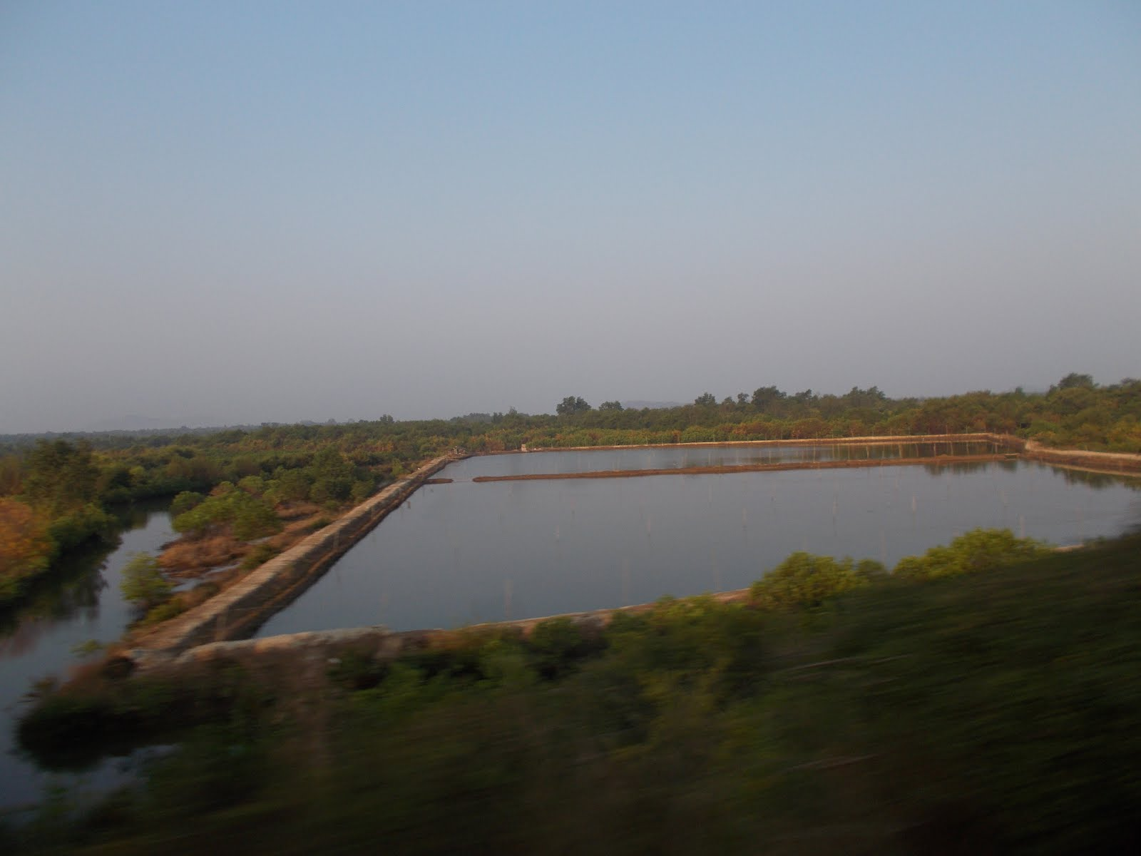 "Picturesque Konkan scenery while travelling by ""12619/Matsyagandha Express"""